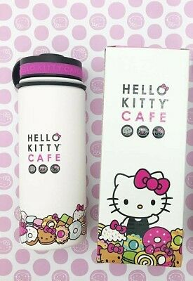 NEW Hello Kitty Cafe Exclusive Thermal Bottle 18oz box, Stickers Included !!