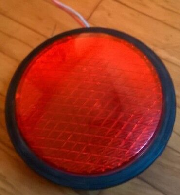 "8"" Dialight LED Traffic Signal Light Red Christmas Decoration Boat Port 120 Volt"