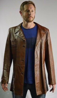 GRAIS Angel Skin Nappa Leather Jacket Size 44 Long Made in USA Excellent Quality