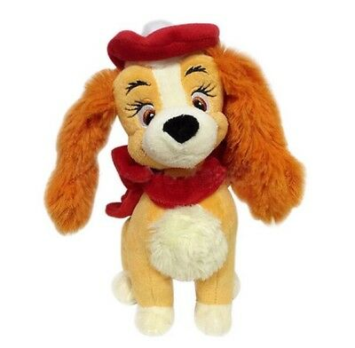 Disney Store Lady and The Tramp Lady Christmas Small Plush Soft Toy RARE BNWT