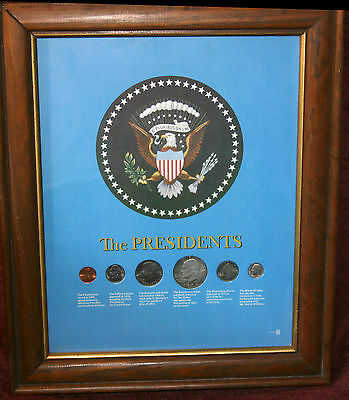 The Presidents Coin Set in wood frame