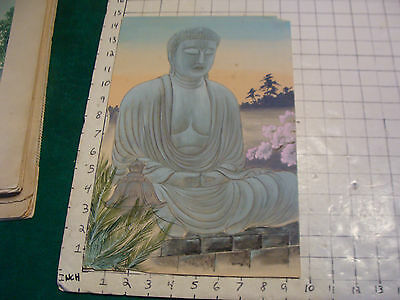 Japan painting of The Great Buddha of Kamakura, very cool and older
