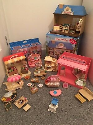 Sylvanian Families Shop Bundle incl Toy, Gift, Shoe, Sainsbury's, Flower + More