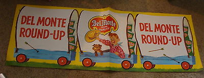 original 1957 COWBOY ADVERTISING SIGN / Poster for Del Monte  #6