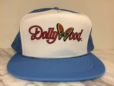 VTG Dollywood Dolly Parton Country Western Rope Trucker SnapBack Hat Cap!