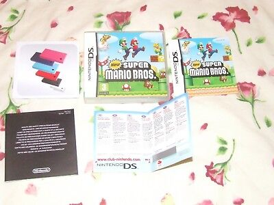 New Super Mario Bros Boxed Complete Excellent Nintendo DS DSi and 3DS PAL UK