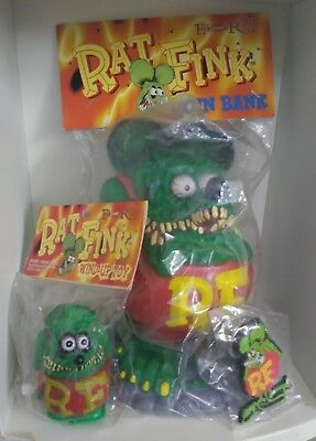 Ed Roth RAT FINK  2007 Special Edition  COIN BANK  Sealed plus 2 bonus.