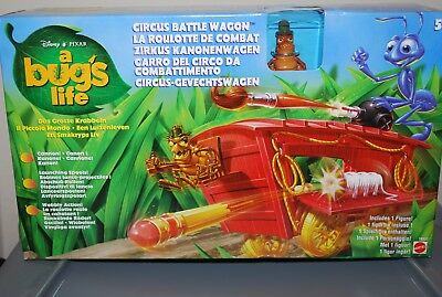 BRAND NEW A BUG'S LIFE CIRCUS BATTLE WAGON Ringmaster Flea