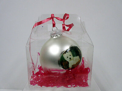 West Highland White Terrier Christmas Holiday Ball Ornament By Ruth Maystead