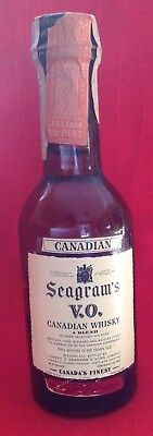 1964 SEAGRAM'S VO  Whisky Mini MINIATURE Bottle Less Than 1/2 Pint Sealed Canada