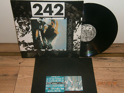 Front 242 - Official Version  Lp 1987 Animalized Records Germany