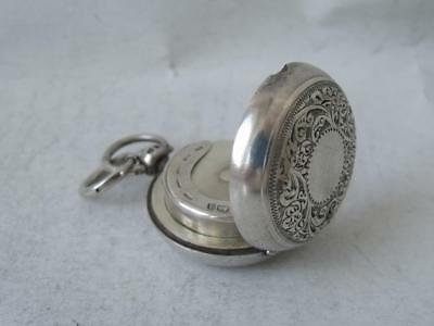 Very Nice Antique Hand-Engraved Solid Silver Sovereign Case 1897/ Dia 3 cm