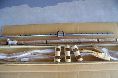 """2 NEW THK hsr25a1c1fm  Linear Motion Ball Bearing Carriages on 53 1/2"""" Guide"""