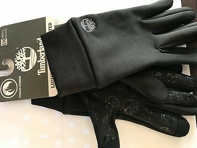 Timberland Men's Commuter Glove Stretch Tree Logo Palm with Touchscreen Black Sm