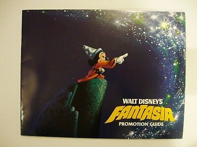Disney's FANTASIA Promotion Guide 1990 ReRelease 7x9 Gloss FREE Ship NMINT 16Pgs