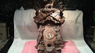 Wood White Tailed Deer Cuckoo Clock from Danbury Mint Made in Germany