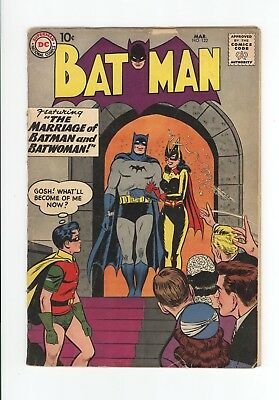BATMAN #122 - GREAT BATWOMAN COVER - SCARCE 1959 - UNRESTORED and COMPLETE