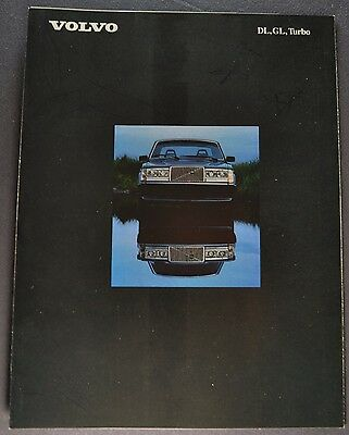 1984 Volvo DL GL Turbo Sales Brochure Folder Excellent Original 84