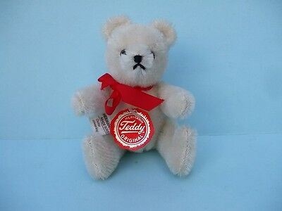 "Hermann 5"" White Teddy Bear Original Moving Arms And Legs New No Box."