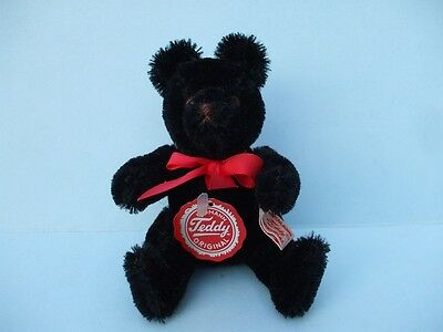 "Hermann 5"" Black Teddy Bear Original Moving Arms And Legs New No Box."
