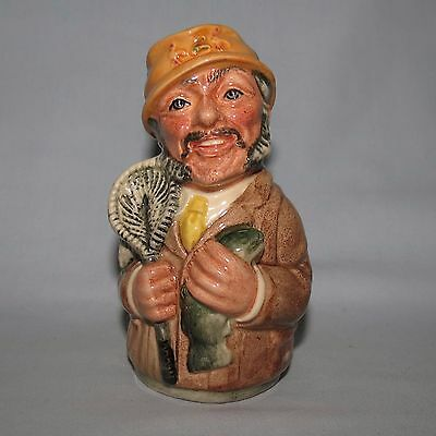 Royal Doulton Doultonville toby jug FRED FLY the FISHERMAN D6742