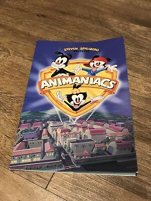 Warner Bros Studio Store Rare Animaniacs Fold Out Promo Booklet