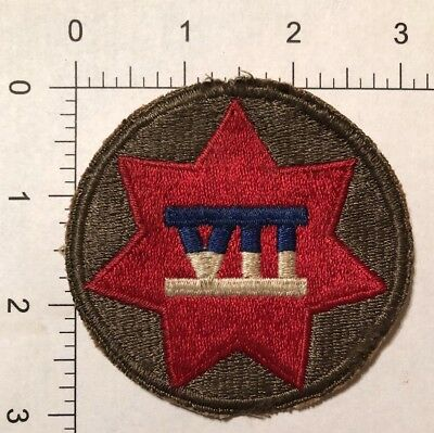 US Army WW2 VII Corps Patch