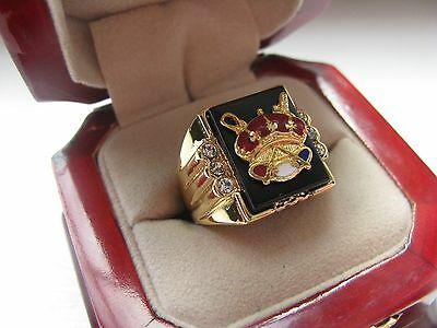 NEW! Heavy Gents Odd Fellows Patriarchs Militant CREST Ring