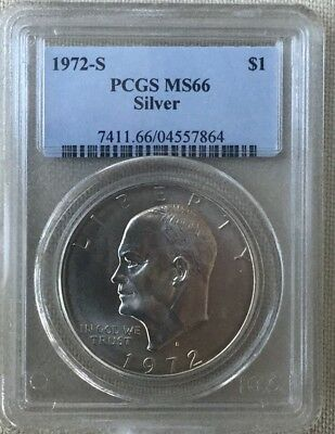 1972-S PCGS MS66 Eisenhower Silver Dollar