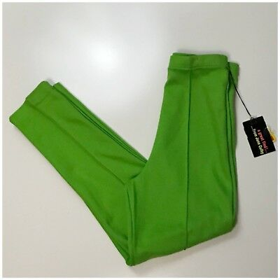 Vintage NOS 1960s Green Cotton High Waist Skinny Ankle Pants Leggings XS/S