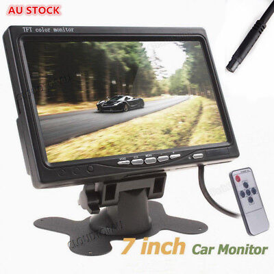 7 inch TFT LCD Color Car Rear View Headrest Monitor For Car Reversing Camera AU