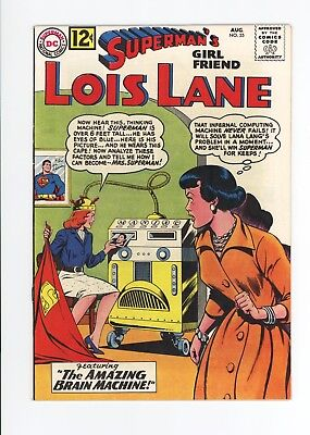 Superman's Girlfriend Lois Lane #35 - High Grade Vf/nm 9.0  White Pages 1962