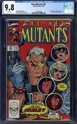 New Mutants #87 CGC 9.8 1st Cable!!!