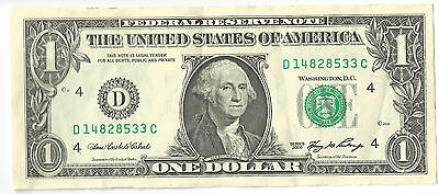 Treasury D - CLEVELAND 2006 USA $1 dollar paper note American greenback