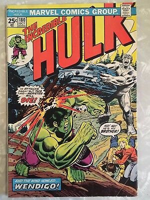 Incredible Hulk #180 Fn 1St Appearance Of Wolverine Rare Jewelers Insert 1974