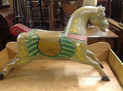 Antique Carousel Horse, Carved Wood, Late 19Th Or Early 20Th Century