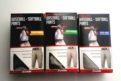 Franklin Sports Deluxe Youth Baseball / Softball Pants Gray Assorted Sizes