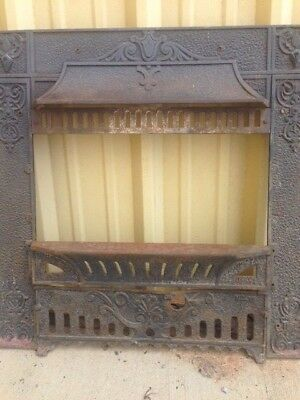 Antique Cast Iron Fireplace/gas Insert Hooded Surround 3 Pc Set ****sale***