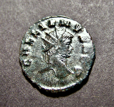 GALLIENUS, PAX ROMANA, Peace in Rome, 263 AD, Imperial Roman Billon Coin