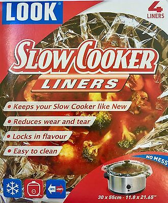 Crock Pot Slow Cooker Disposable Liner Bags 4 Pack AUS - free postage for extras