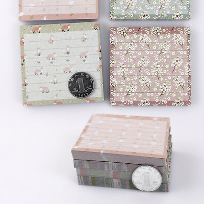 Floral Animal Cartoon Sticky Notes Memo Pad Notepad Stickers Paper Products New