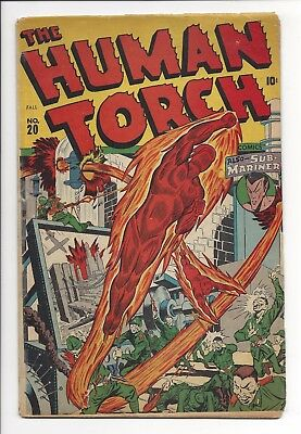 The Human Torch #20 VG (1940) Awesome War Issue
