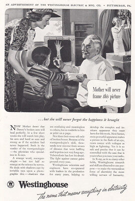 1938 Westinghouse: Mother Will Never Frame This Picture Vintage Print Ad