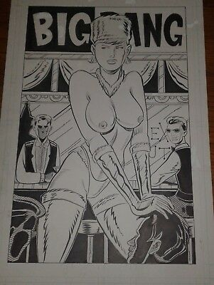 "RED CALLOWAY'S BIG BANG ORIGINAL POSTER ""The Sex Hut"" by Paul Sharar Indie Comic"