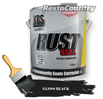 KBS RustSeal GLOSS BLACK 4 Litre Rust Seal Paint Rust Preventive Coating four