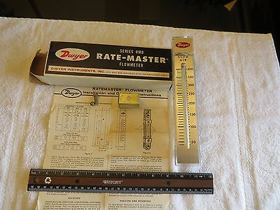 Dwyer Rate-Master Rmb-55 Flowmeter Scfh Air 0 - 400 In Box With Instructions