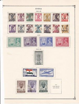 India 1940's Collection on 2 Pages with High Values