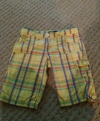 Girls Juniors Size12R Bright YELLOW LEI Chelsea Low rise CARGO SUMMER  SHORTS