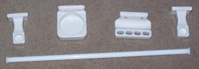 Antique Set Of White Milk Glass Towel Bar, Cup Holder, Tooth Brush Holder