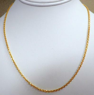 "14KT Yellow GOLD Anchor Link Chain Necklace 18"" Long 8.243 GRAMS 2.5mm"